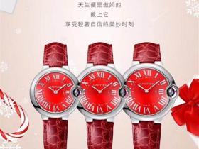 V6厂卡地亚蓝气球红色女士圣诞节限量版腕表浪漫上市