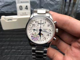 JF厂浪琴名匠月相八针复刻表详细评测-多功能手表