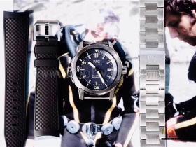 V6厂万国海洋时计计时系列蓝面大三针腕表评测
