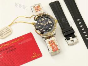 OR厂欧米茄海马300间金黑盘腕表详细评测