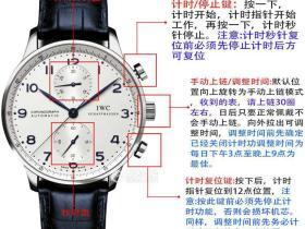 一张图教您计时机芯手表的使用和注意事项