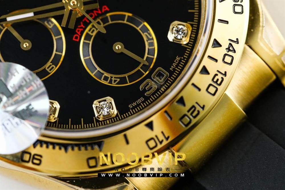 JH厂劳力士宇宙计型迪通拿系列116508黑盘镶钻时标腕表 第13张