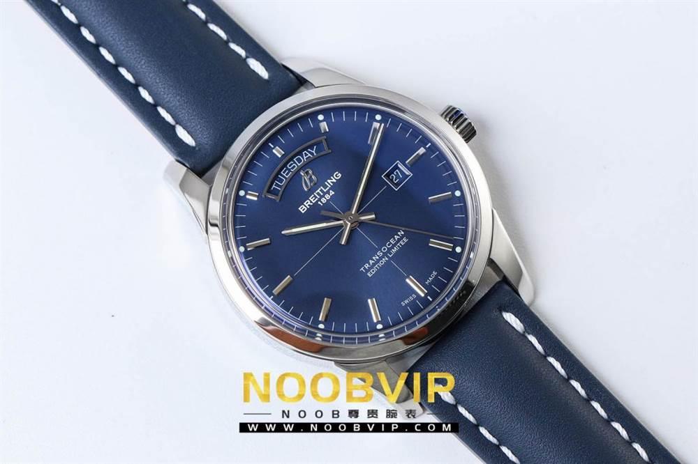 V7百年灵越洋系列(白壳蓝面)腕表 第7张
