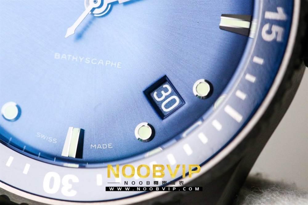 GF厂宝珀五十寻5000深潜器-蓝面陶瓷壳版本 第13张