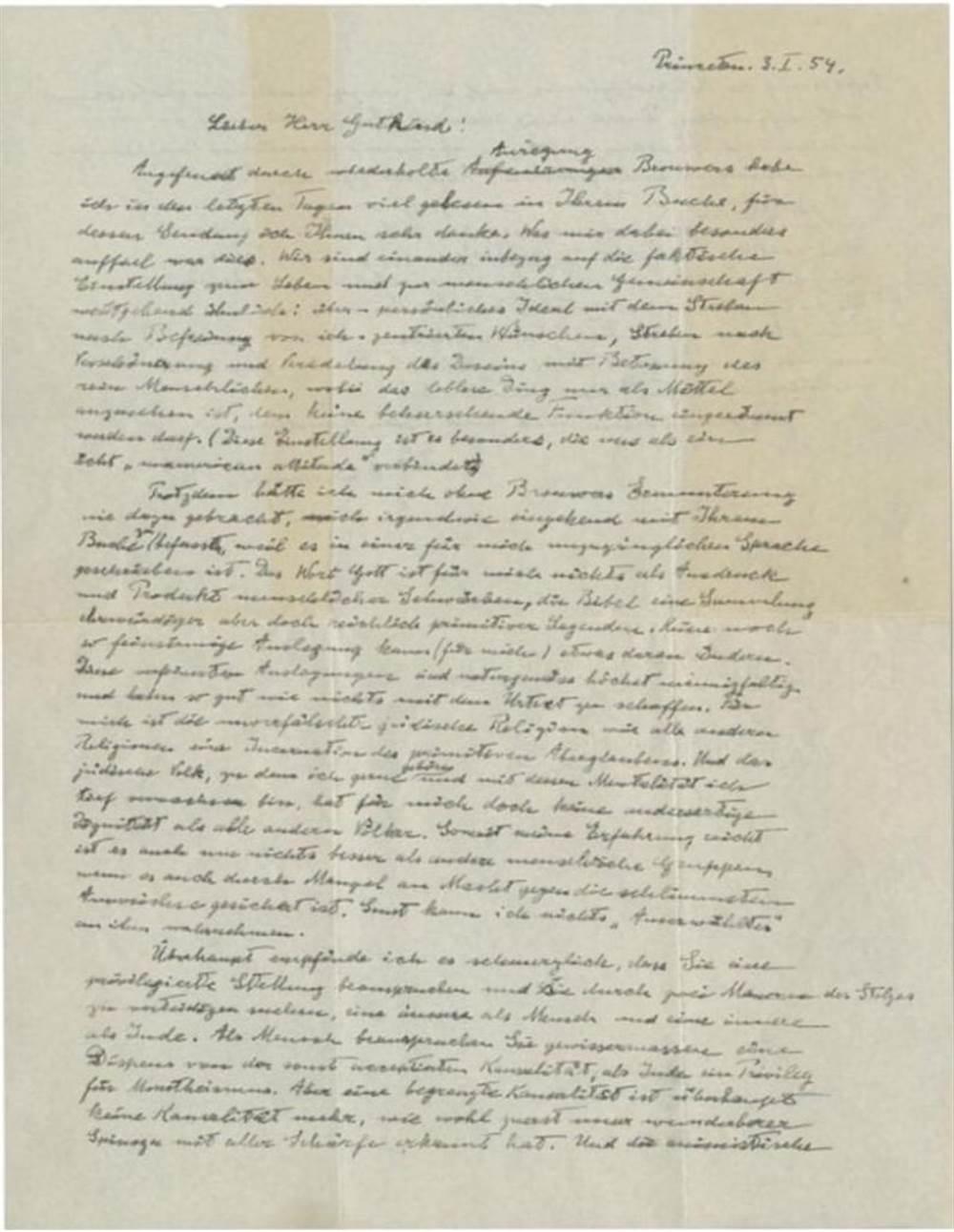 """爱因斯坦手写""""上帝之信""""卖2000万「他的腕表呢」"""