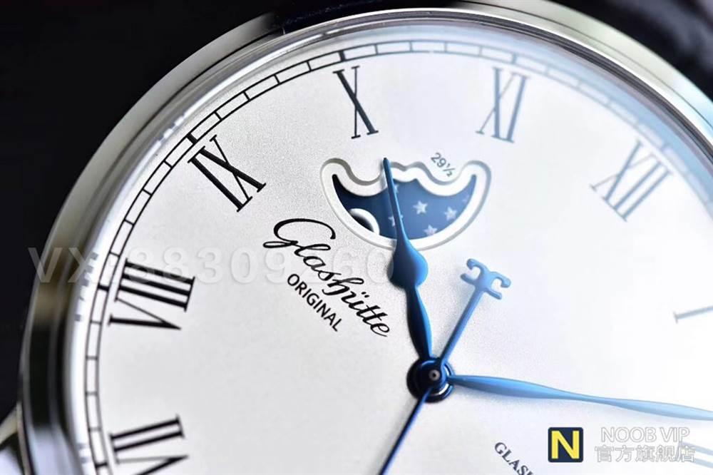 GF厂格拉苏蒂原创议员系列100-04-32-12-04大日历月相腕表最新评测 第5张