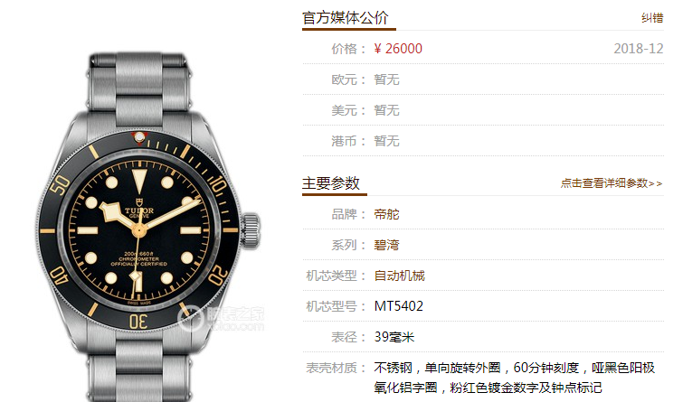 ZF厂帝舵碧湾系列M79030N-0001腕表新品评测 第1张