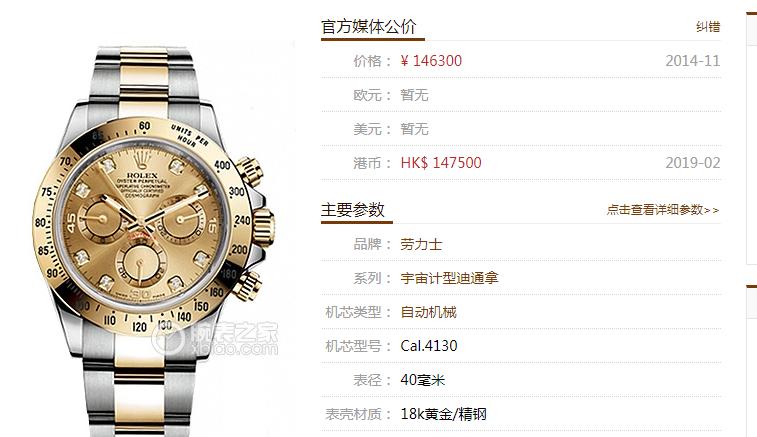 JH厂劳力士迪通拿116523-78593香槟金腕表首发详解 第1张