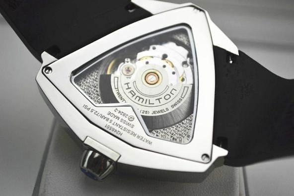 猫王75周年纪念——黑色三角形腕表汉米尔顿探险系列H24615331 第2张