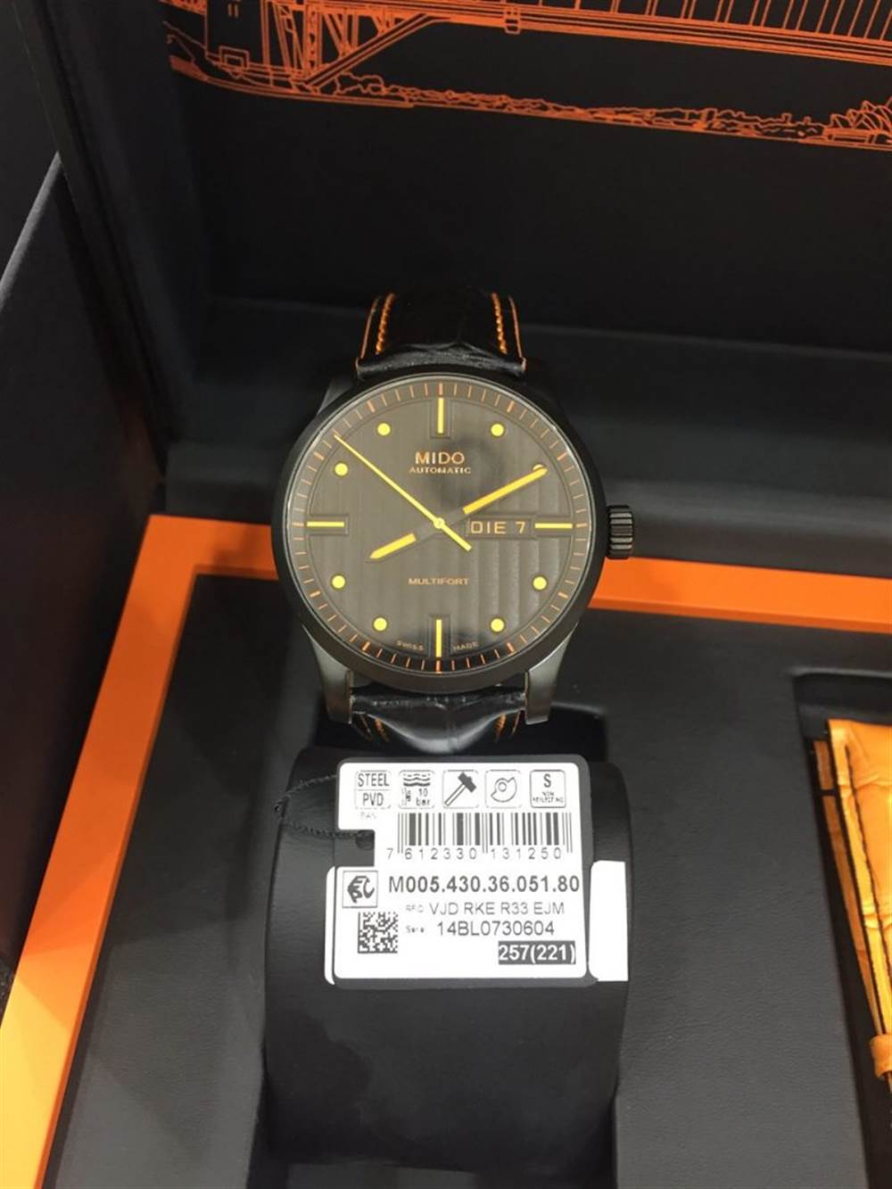 美度原单橙舵手系列M005.430.36.051.80腕表