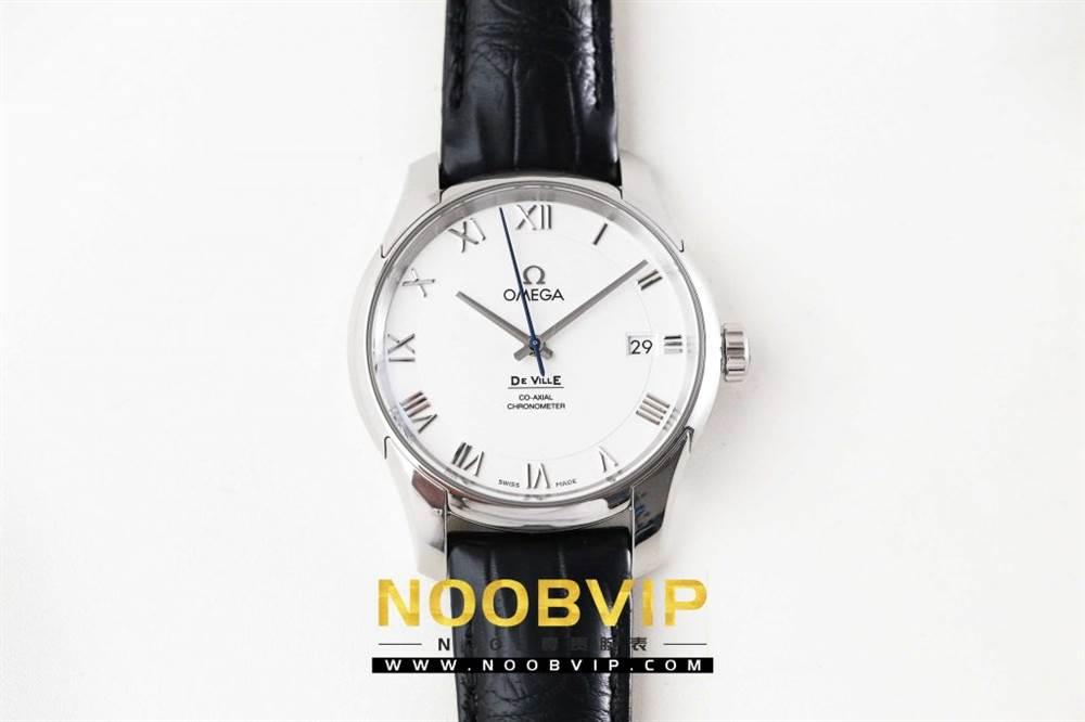 VS厂欧米茄碟飞系列431.13.41.21.02.001腕表「白壳白面皮带」评测 第3张