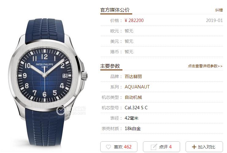 ZF厂百达翡丽海底探险者系列5168G-001腕表首发详解
