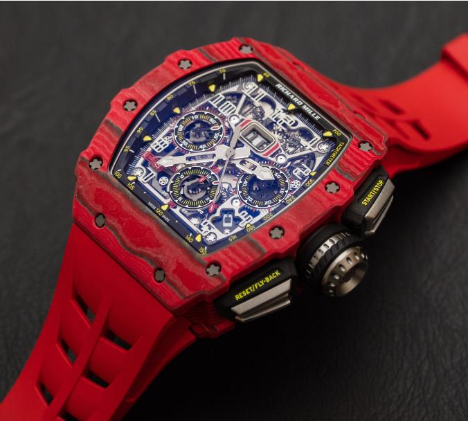 Richard Mille RM 11-03自动反激计时码表红色石英FQ TPT手表 第2张