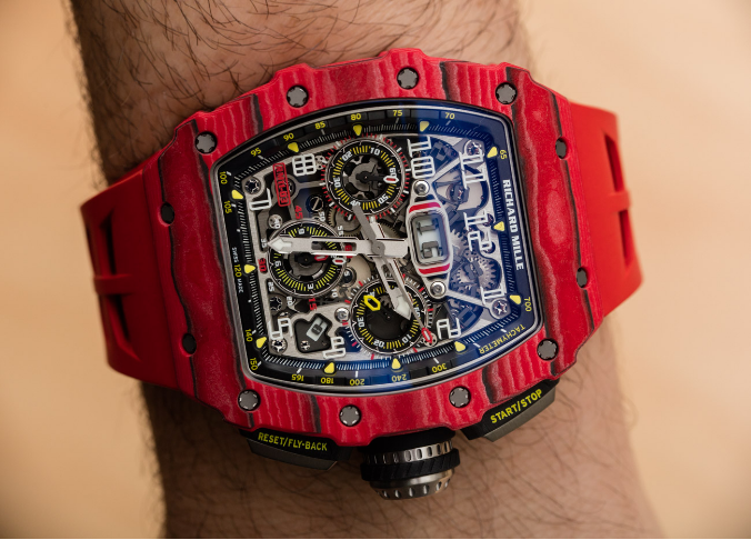 Richard Mille RM 11-03自动反激计时码表红色石英FQ TPT手表 第4张