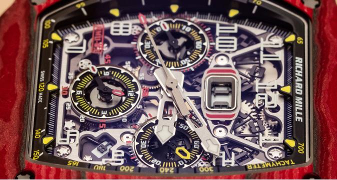 Richard Mille RM 11-03自动反激计时码表红色石英FQ TPT手表 第5张