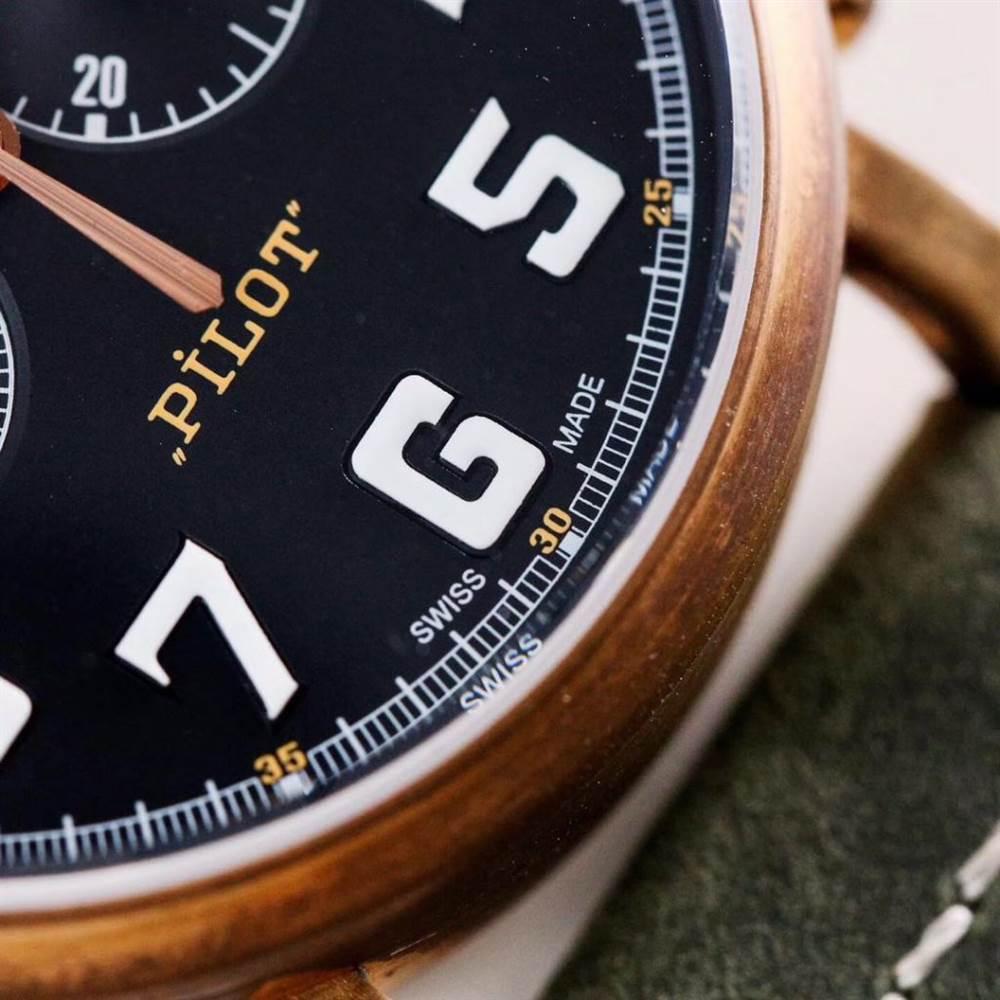 XF厂真力时飞行员系列29.2430.4069/21.C800青铜咖啡骑士腕表首发详解 第7张