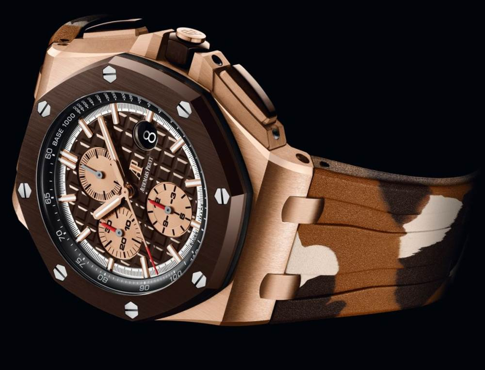 2019日内瓦高档钟表国际沙龙-AP全新的皇家橡树离岸计时码表迷彩腕表