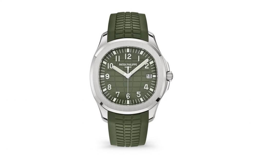 新百达翡丽Aquanaut 5168G-绿色版本腕表回归 第2张