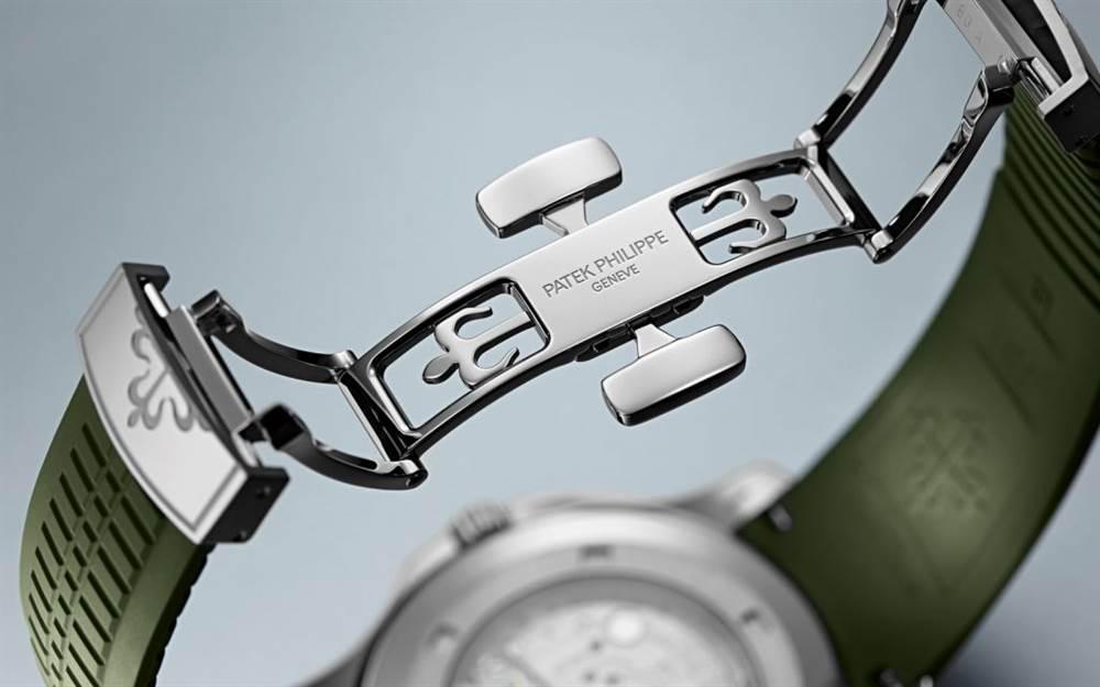 新百达翡丽Aquanaut 5168G-绿色版本腕表回归 第4张