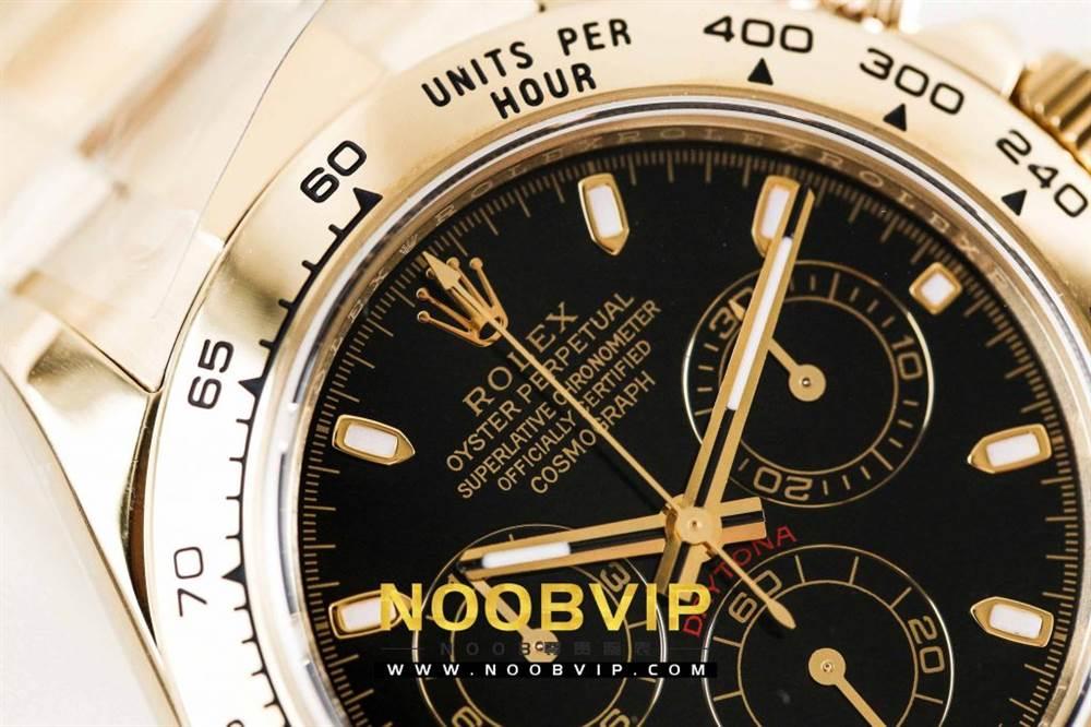 AR厂劳力士宇宙计型迪通拿系列116508黑盘腕表「最新版本」做工如何 第9张