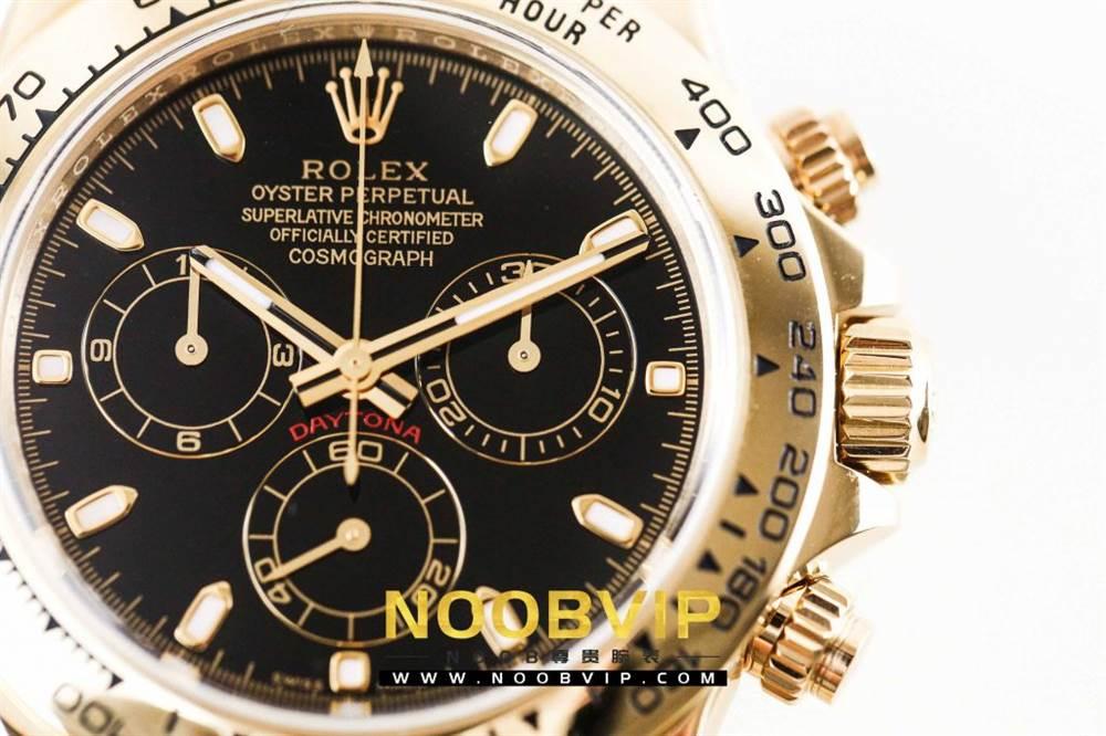 AR厂劳力士宇宙计型迪通拿系列116508黑盘腕表「最新版本」做工如何 第11张