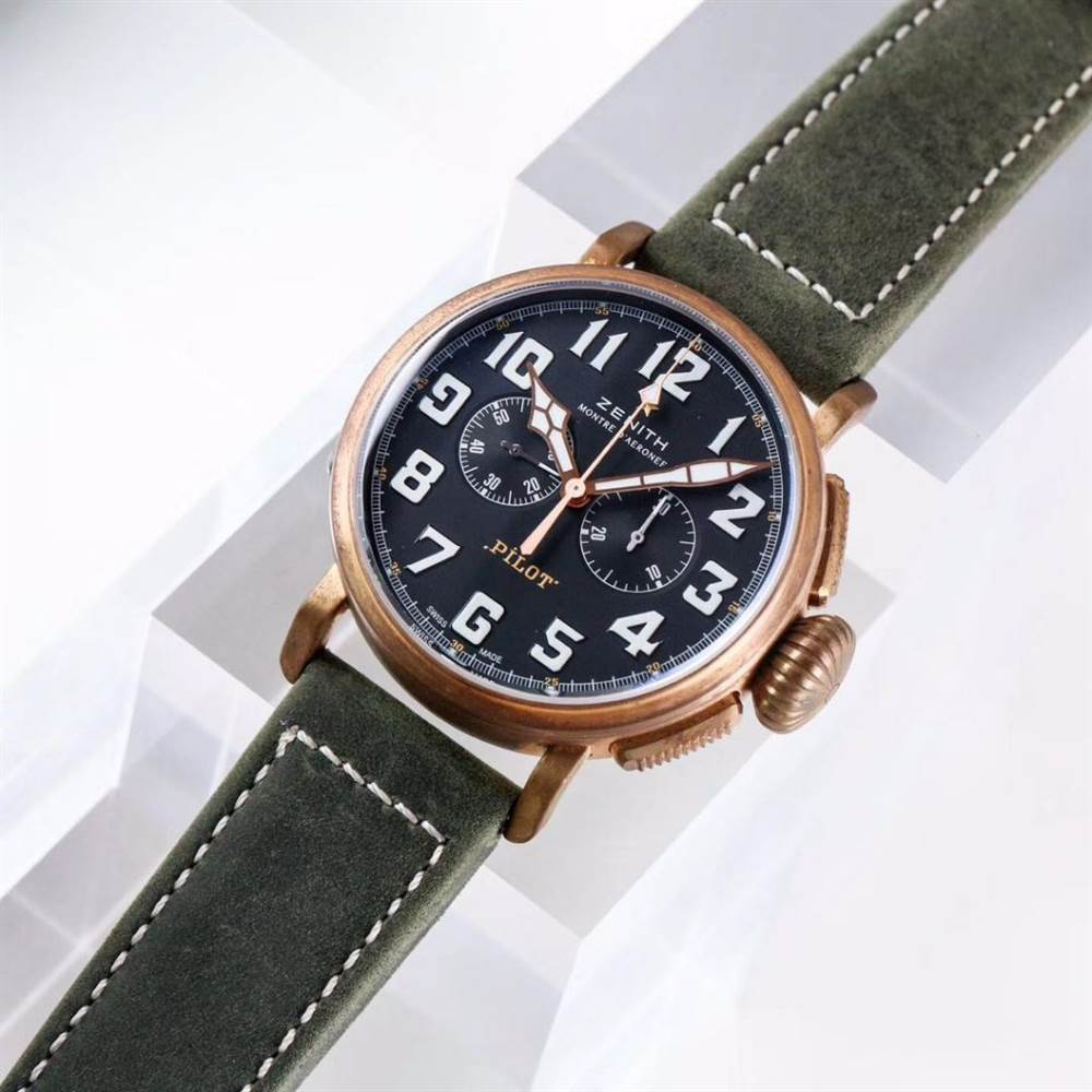 XF厂真力时飞行员系列29.2430.4069/21.C800青铜咖啡骑士腕表首发详解 第4张