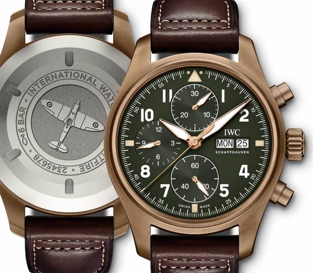 万国腕表计时码表Spitfire Bronze 第2张