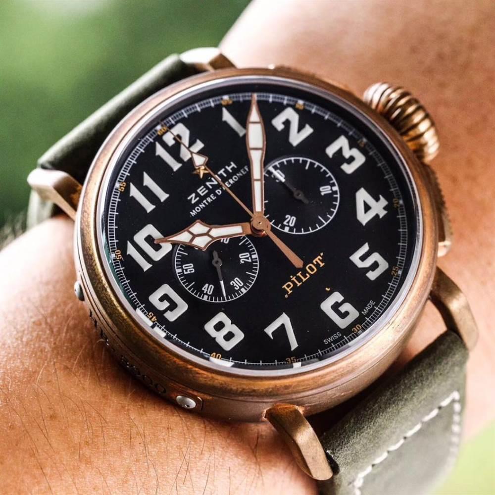 XF厂真力时飞行员系列29.2430.4069/21.C800青铜咖啡骑士腕表首发详解 第5张