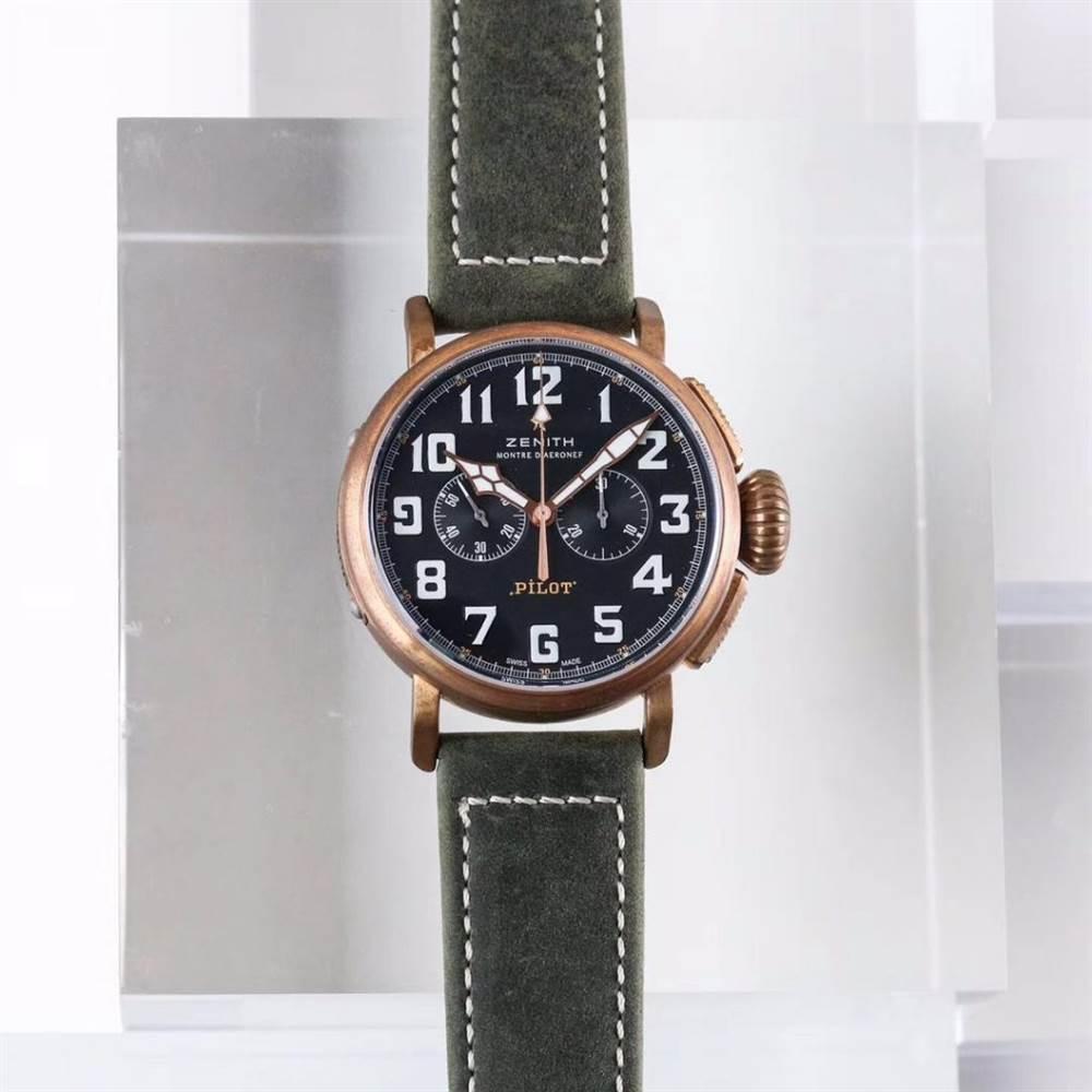 XF厂真力时飞行员系列29.2430.4069/21.C800青铜咖啡骑士腕表首发详解 第3张