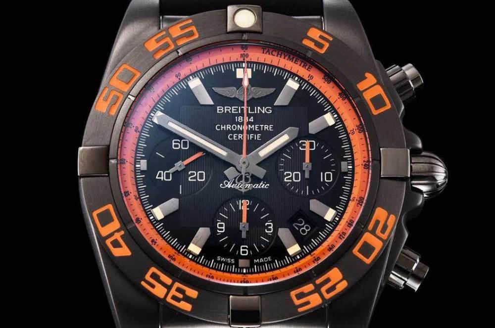 GF厂百年灵终极计时黑鹰橙圈评测Chronomat 44 Raven 第4张
