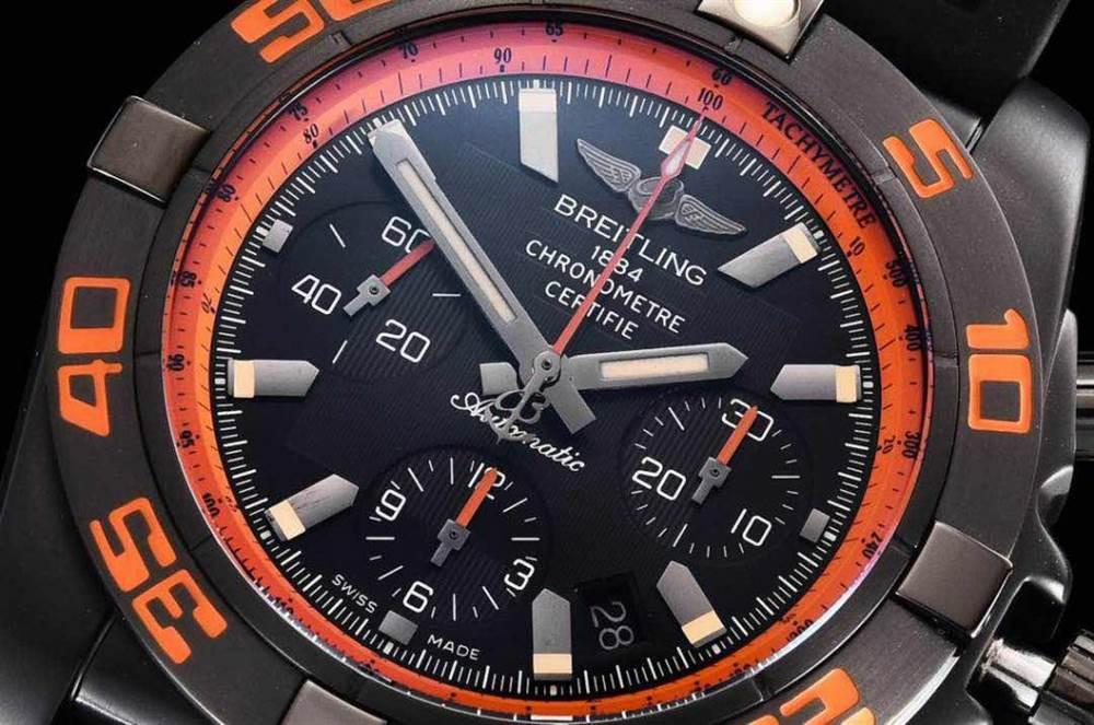 GF厂百年灵终极计时黑鹰橙圈评测Chronomat 44 Raven 第6张