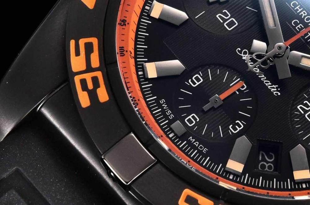 GF厂百年灵终极计时黑鹰橙圈评测Chronomat 44 Raven 第15张