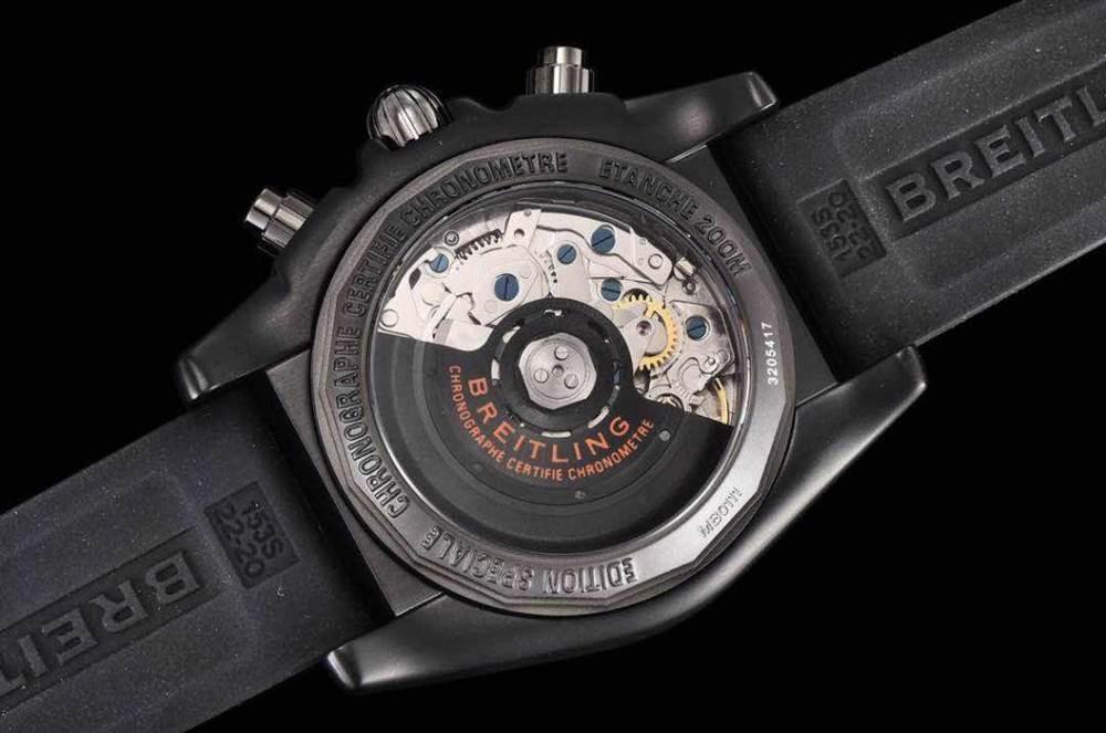 GF厂百年灵终极计时黑鹰橙圈评测Chronomat 44 Raven 第18张