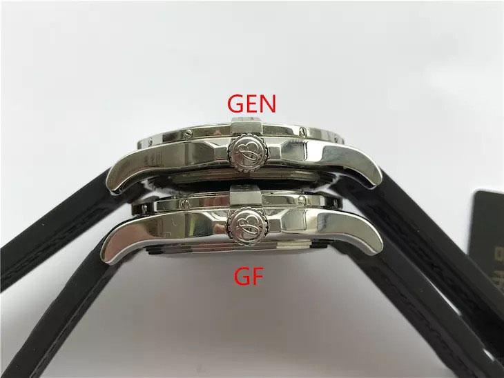GF厂百年灵复仇者二代复刻表和正品对比