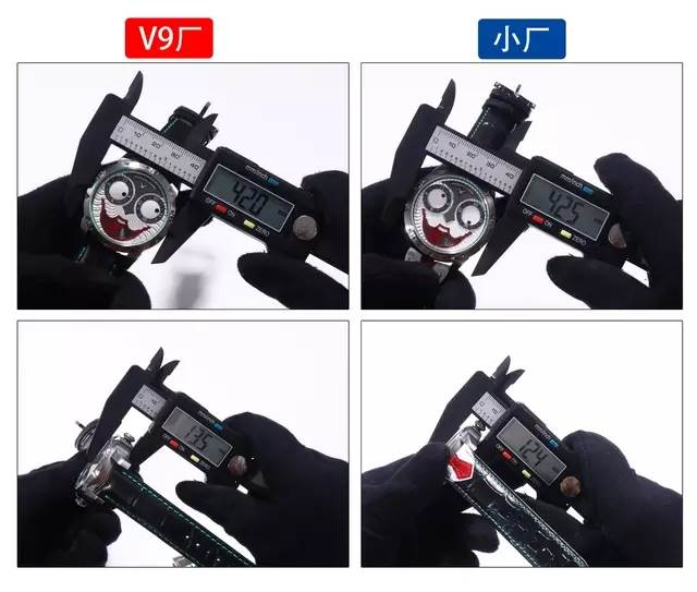 V9厂俄罗斯切金小丑复刻表-真月相功能同步正品