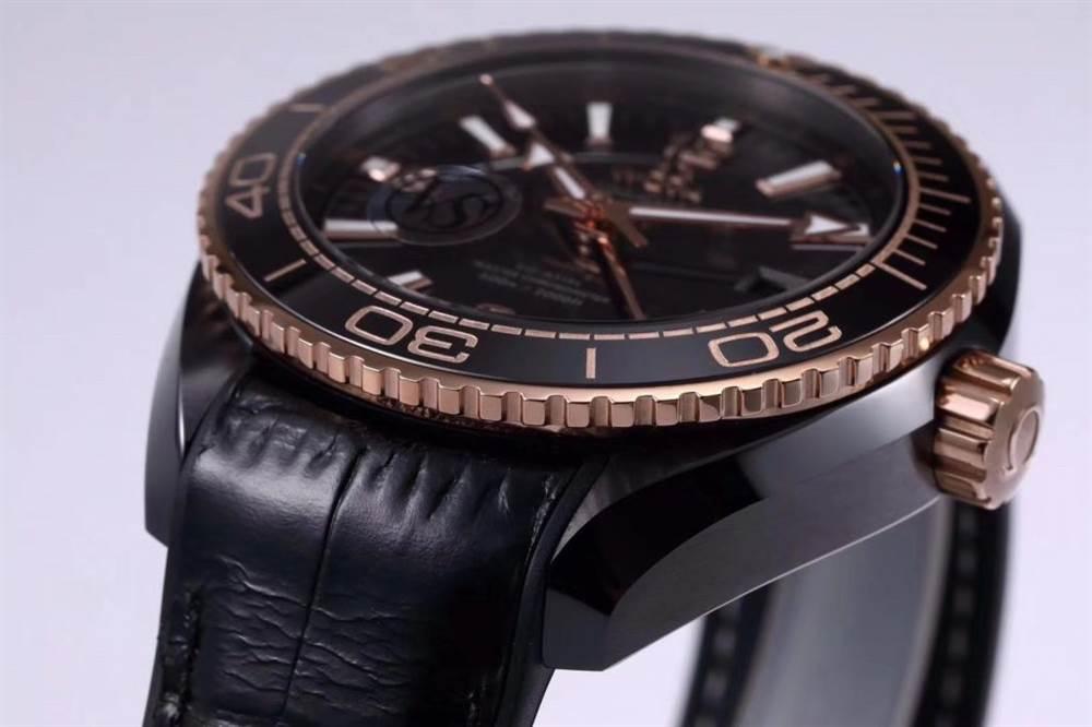 VS厂欧米茄「深海之王」新品来袭-VS厂深海之黑玫金全陶瓷版复刻表 第9张
