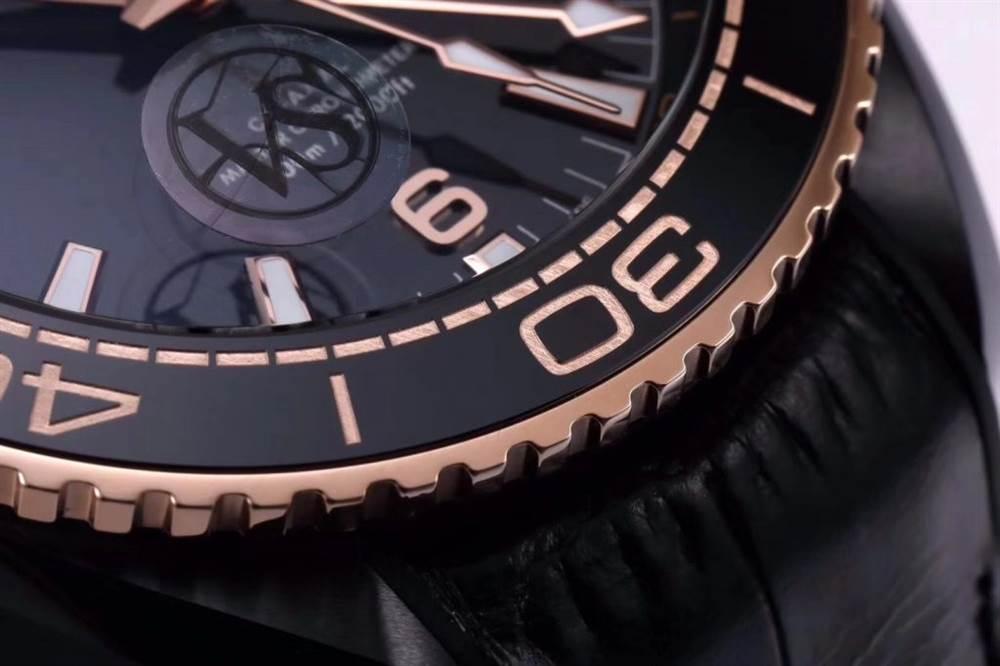 VS厂欧米茄「深海之王」新品来袭-VS厂深海之黑玫金全陶瓷版复刻表 第12张