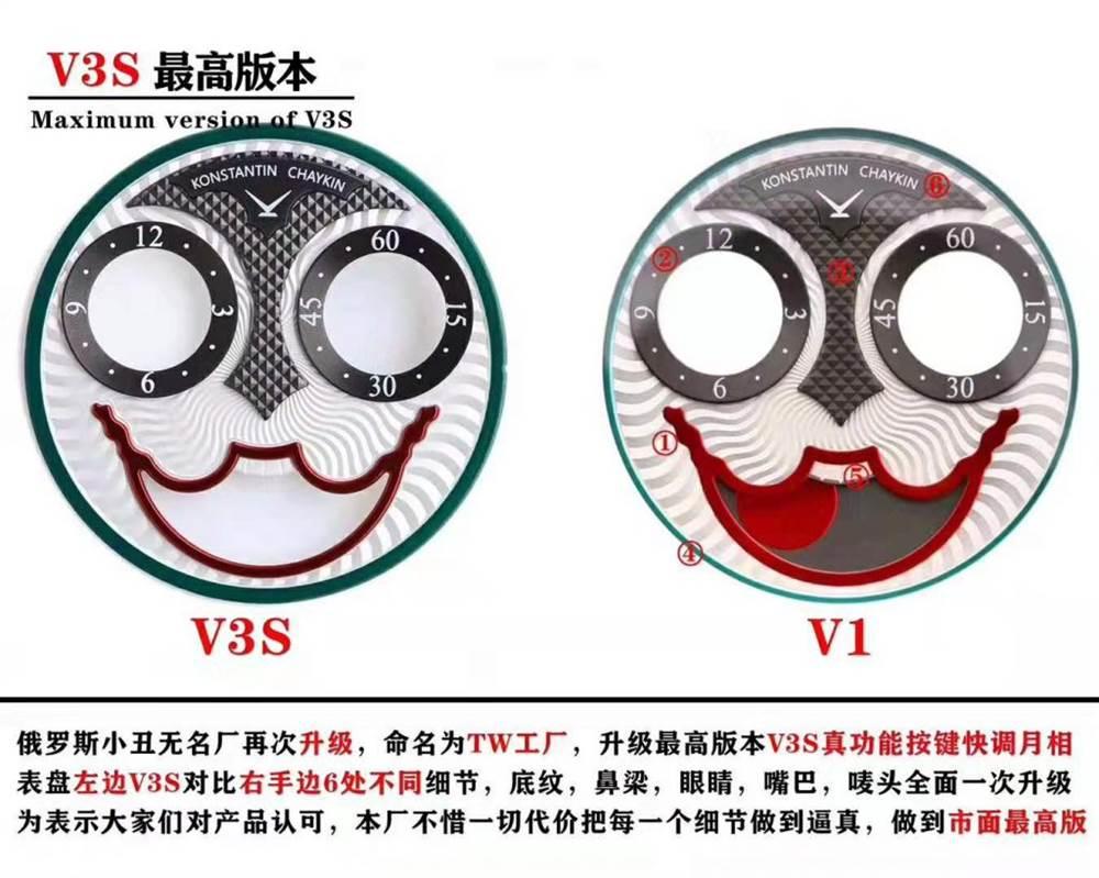 万圣节带什么表?TW厂俄罗斯切金小丑V3S升级版助你过个俏皮的Halloween!