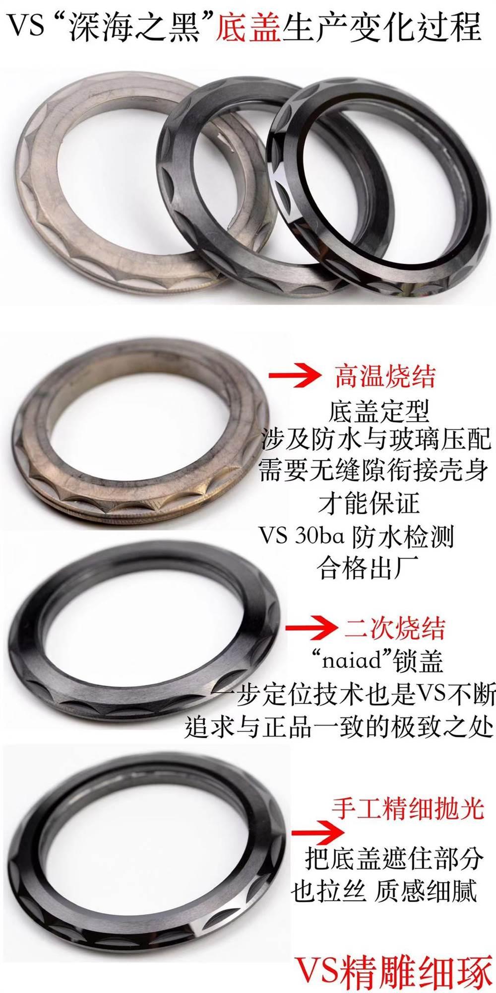 VS厂欧米茄深海之黑腕表所有配件生产变化过程详解-真正良心之作