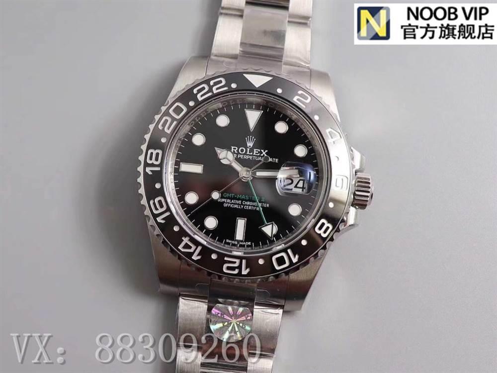 AR厂复刻劳力士格林尼治二代116710绿针GMT腕表评测