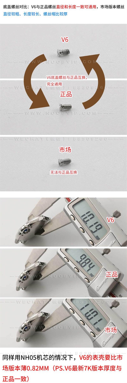 V6厂蓝气球V7版W6920071复刻表「33mm女士机械」对比正品和市场版本评测