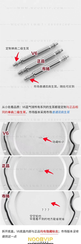 V6厂卡地亚V7版蓝气球42mm大号W69012Z4复刻表对比评测