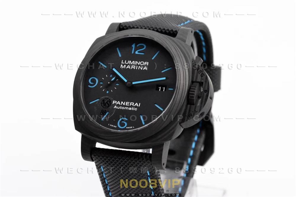 VS厂沛纳海1661复刻表评测-2020全新庐米诺系列碳纤维44mm腕表