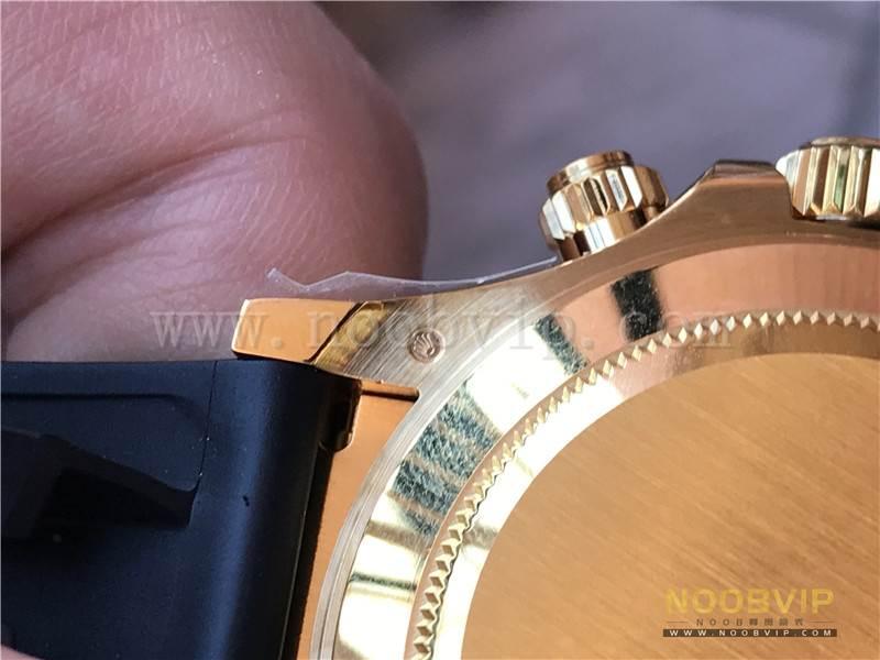 N厂劳力士迪通拿m116518ln-0042金盘胶带腕表实拍评测插图22