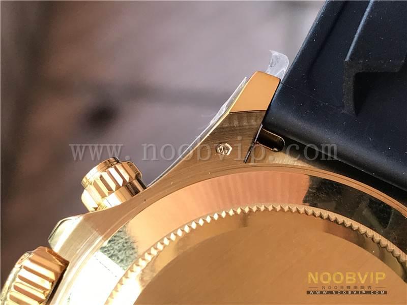 N厂劳力士迪通拿m116518ln-0042金盘胶带腕表实拍评测插图24