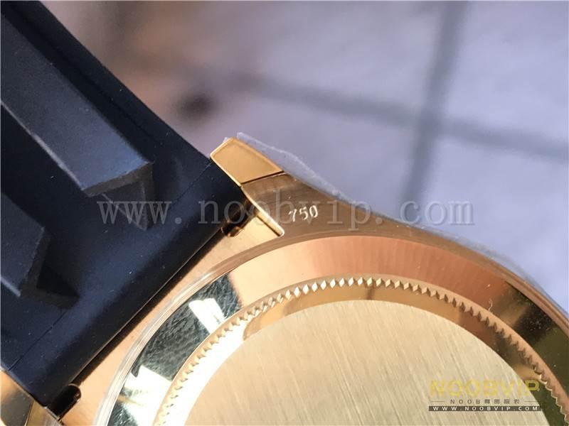 N厂劳力士迪通拿m116518ln-0042金盘胶带腕表实拍评测插图26