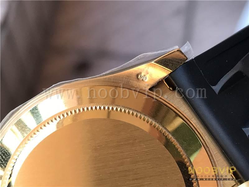 N厂劳力士迪通拿m116518ln-0042金盘胶带腕表实拍评测插图28