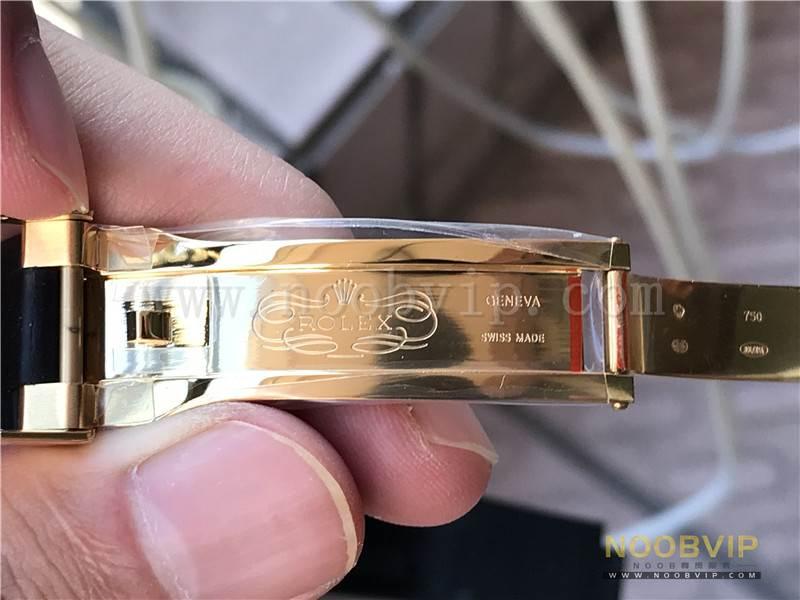 N厂劳力士迪通拿m116518ln-0042金盘胶带腕表实拍评测插图32