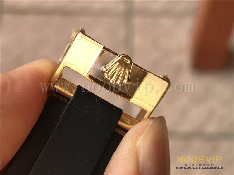 N厂劳力士迪通拿m116518ln-0042金盘胶带腕表实拍评测插图36