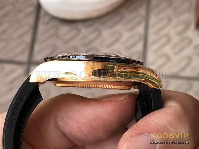 N厂劳力士迪通拿m116518ln-0042金盘胶带腕表实拍评测插图16